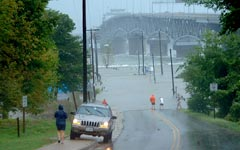 Coleman Bridge in Storm