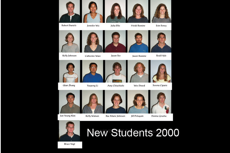 The matriculating class of 2000.