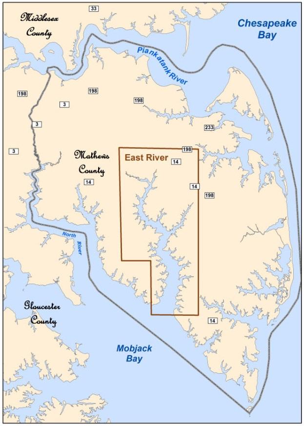 Coastal Virginia Map.Mathews Maritime Heritage Trail Virginia Institute Of Marine Science