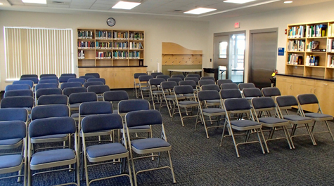 Seaside Hall Classroom, Conference room, and Library
