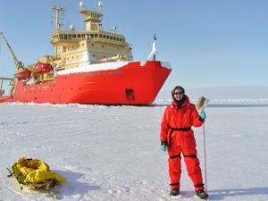 VIMS Professor Rebecca Dickhut during a research cruise to Antarctica.