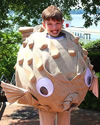 Michael Fratzke's blowfish costume took the prize for Best Representation of a Plant or Animal.