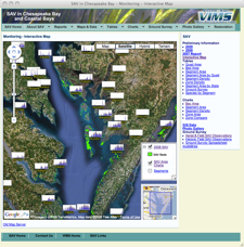 The SAV Google Maps Tool. Click image to access interactive map.