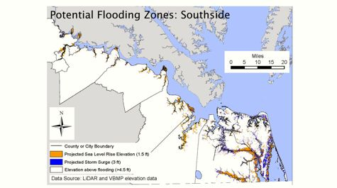 Potential Flooding Zones