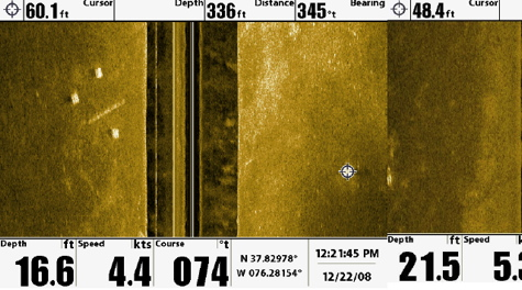 Side-scan sonar image