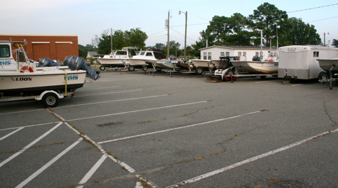 Vessels in Triangle Parking Lot