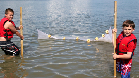 Seining is a fun and educational way to learn about marine life in the York River and Chesapeake Bay