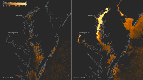 Chesapeake Bay Before and After