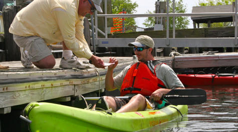 Kevin Spanik of VIMS takes part in the 2010 Poker Dinghy Run.