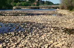 Drought in California has caused many of its rivers to run extremely low. © CDWR.