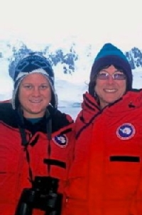 Professor Deb Steinberg (R) and graduate student Miram Gleiber (L) return to Antarctica for another field season.