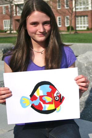 Erin Forgit, a 9th grader at Warhill High School in Williamsburg, took first prize in VIMS' flounder artwork contest for Marine Science Day 2012.