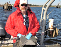 VIMS Professor Michael Unger will use the microscope to better understand how contaminants impact water quality, habitat, and marine organisms—and by extension human health.