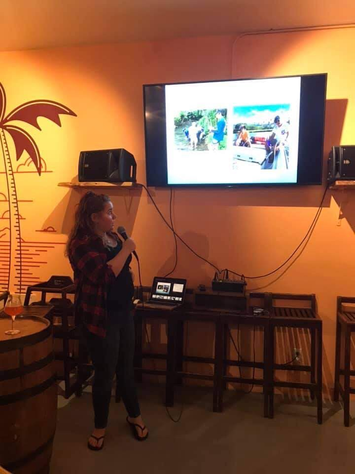 Speaking at Marine Science On Tap Event