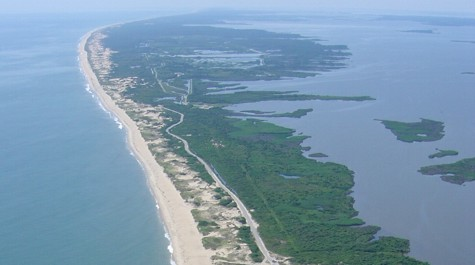 The Barrier Islands Are Fragile Strips Of Beach Dune And Marsh Between Virginia S Southeast Atlantic Ocean Coast Back Bay Photo By Sline Stus